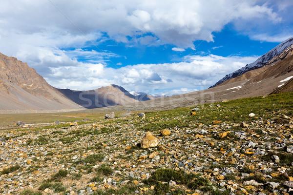 Völgy Himalája ház épület természet hegyek Stock fotó © dmitry_rukhlenko