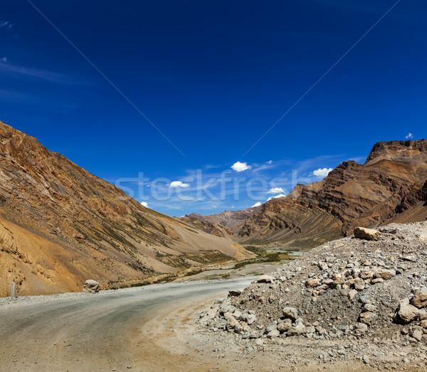 út indiai Himalája égbolt természet hegyek Stock fotó © dmitry_rukhlenko