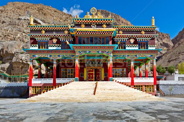 Klooster vallei deur aanbidden architectuur Stockfoto © dmitry_rukhlenko