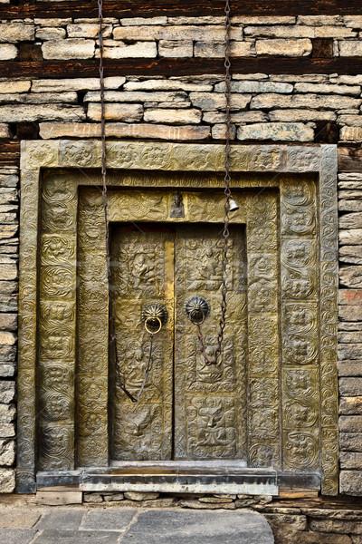 Erőd templom ajtó fém istentisztelet építészet Stock fotó © dmitry_rukhlenko