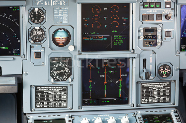 Aircraft cockpit dashboard Stock photo © dmitry_rukhlenko