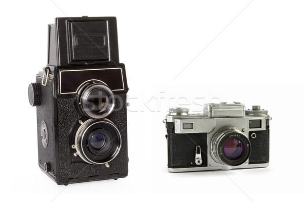 Vintage cameras isolated Stock photo © dmitry_rukhlenko