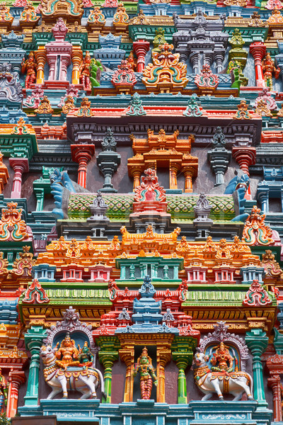 Foto stock: Templo · torre · pedra · deus · asiático · escultura