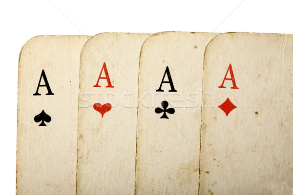 Four old cards close up Stock photo © dmitry_rukhlenko