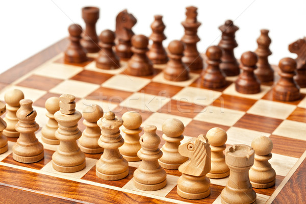 Chess - beginning of game Stock photo © dmitry_rukhlenko
