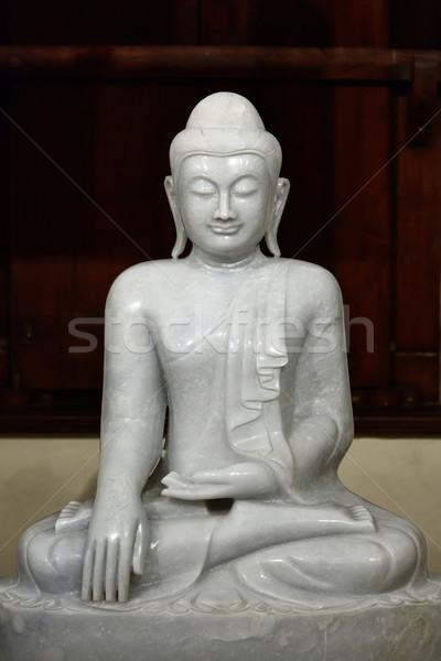 Buddha statue in temple Stock photo © dmitry_rukhlenko