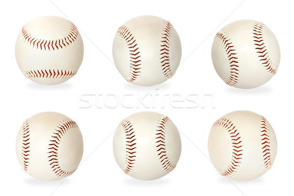 Base balls isolated on white background Stock photo © dmitry_rukhlenko