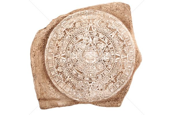 Ancient aztec calendar isolated Stock photo © dmitry_rukhlenko