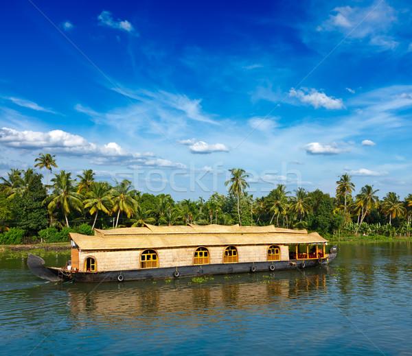 Houseboat on Kerala backwaters, India Stock photo © dmitry_rukhlenko
