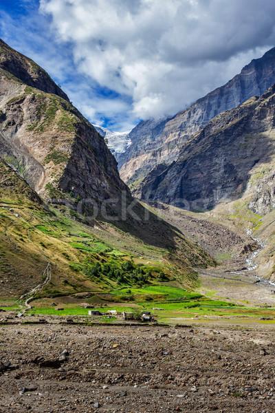 Vallei Indië himalayas bergen landschap hemel Stockfoto © dmitry_rukhlenko