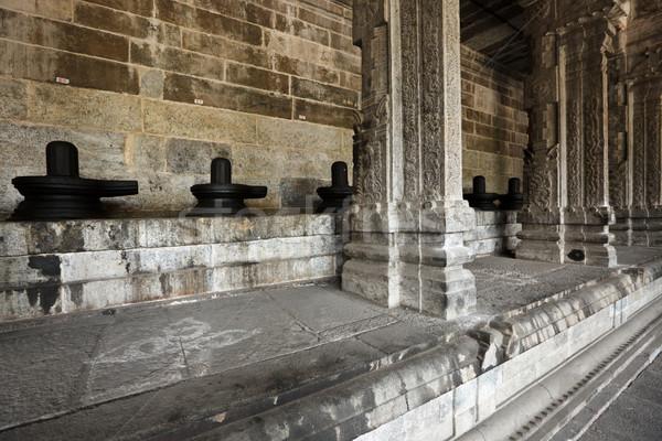 Lingams and columns in Hindu temple Stock photo © dmitry_rukhlenko