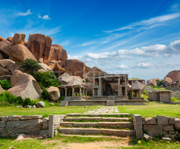 Ruins in Hampi Stock photo © dmitry_rukhlenko