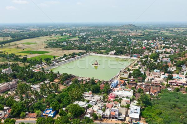 Temple Tank of Lord Bhakthavatsaleswarar Temple. Thirukalukundr Stock photo © dmitry_rukhlenko