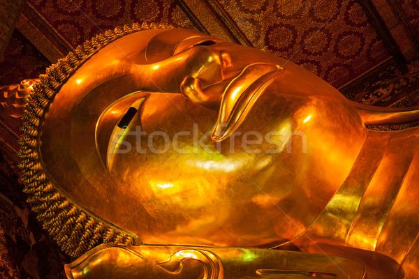 Foto d'archivio: Buddha · faccia · oro · statua · Bangkok