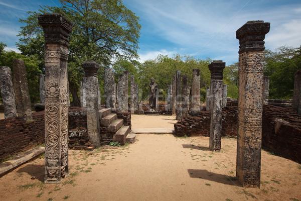 Ruines oude stad Sri Lanka steen tempel Stockfoto © dmitry_rukhlenko