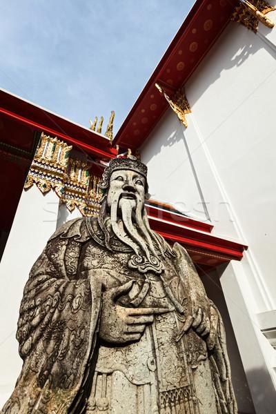 Stock fotó: Kő · gyám · Thaiföld · kínai · Bangkok · szobor