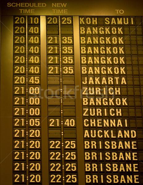 Zamanlamak tahta Asya havaalanı seyahat zaman Stok fotoğraf © dmitry_rukhlenko