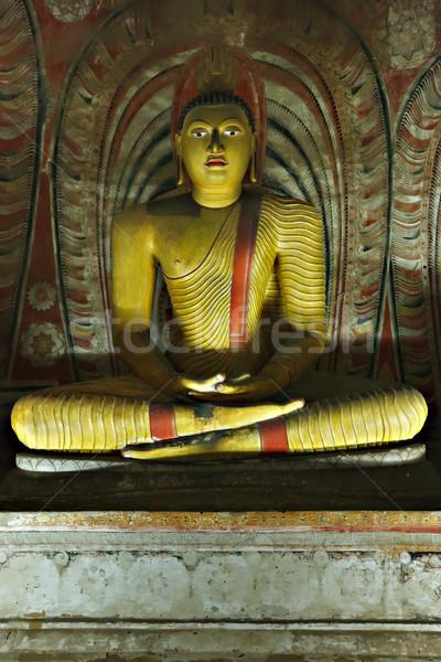 Ancient Buddha image in Dambulla Rock Temple caves, Sri Lanka Stock photo © dmitry_rukhlenko