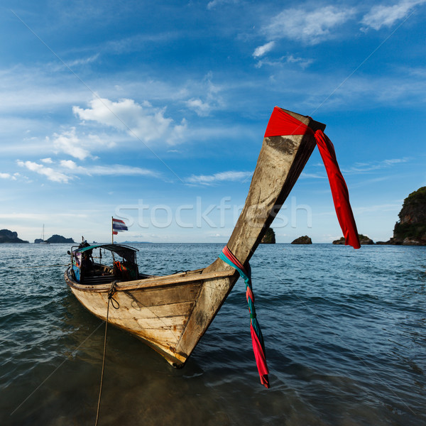 Longtemps queue bateau plage Thaïlande thai Photo stock © dmitry_rukhlenko