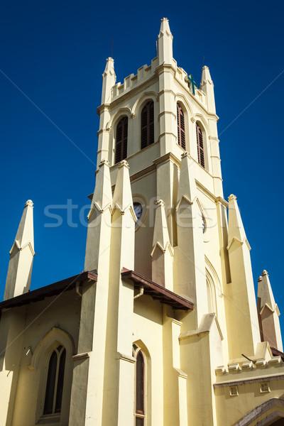 Kerk christ tweede noord-india hemel architectuur Stockfoto © dmitry_rukhlenko