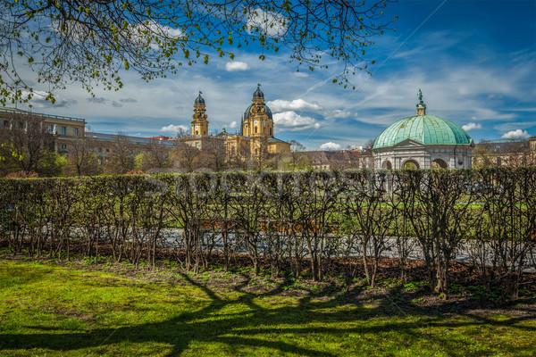 Pavilion in Hofgarten and Theatine Church. Munich, Germany Stock photo © dmitry_rukhlenko