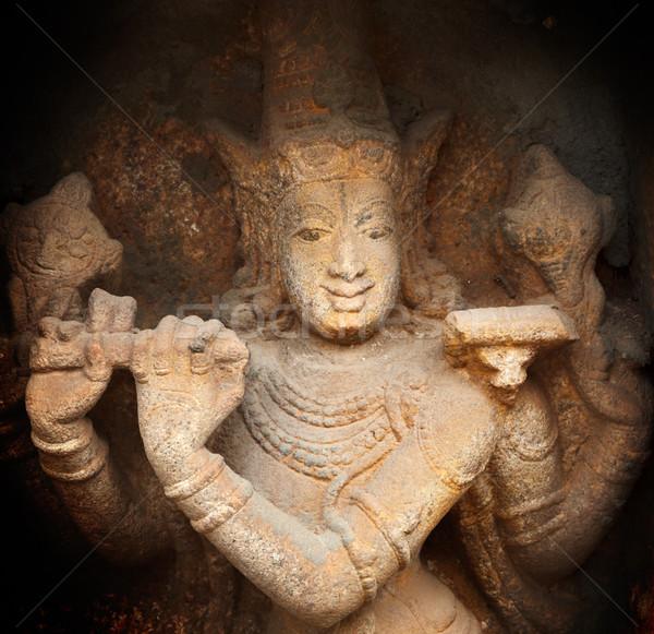Krishna alivio templo piedra dios Foto stock © dmitry_rukhlenko