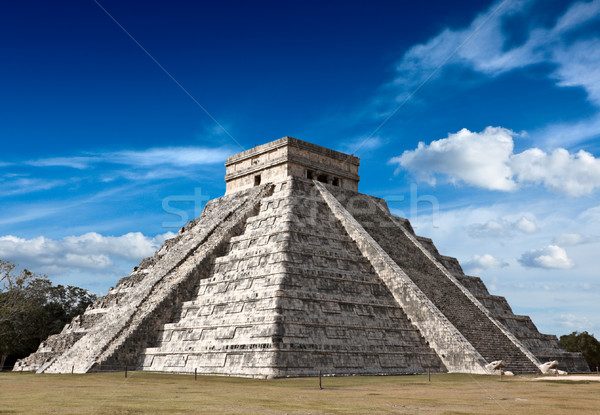 Mayan pyramid in Chichen-Itza, Mexico Stock photo © dmitry_rukhlenko