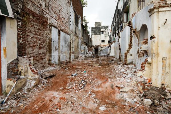 Utca romok házak India Stock fotó © dmitry_rukhlenko