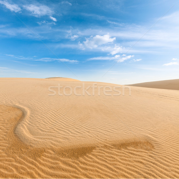 White sand dunes on sunrise, Mui Ne, Vietnam Stock photo © dmitry_rukhlenko