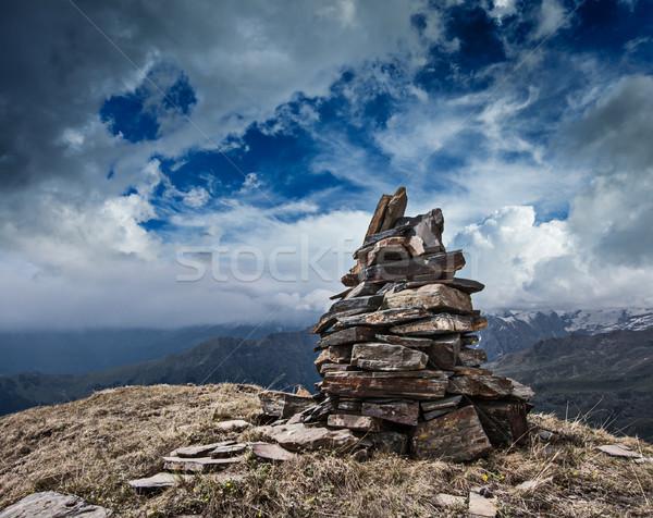 石 ヒマラヤ山脈 山 風景 山 岩 ストックフォト © dmitry_rukhlenko
