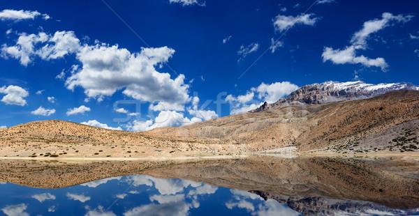 Mountain lake in Himalayas Stock photo © dmitry_rukhlenko