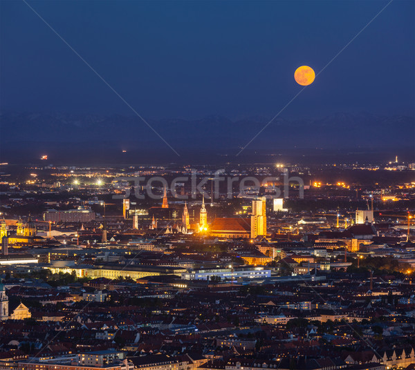 Nacht luchtfoto München Duitsland toren Stockfoto © dmitry_rukhlenko