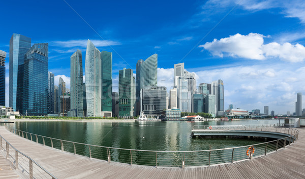 Singapore skyline panorama zakenwijk jachthaven Stockfoto © dmitry_rukhlenko