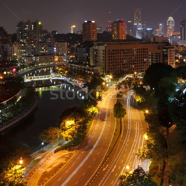 Evening in Singapour Stock photo © dmitry_rukhlenko