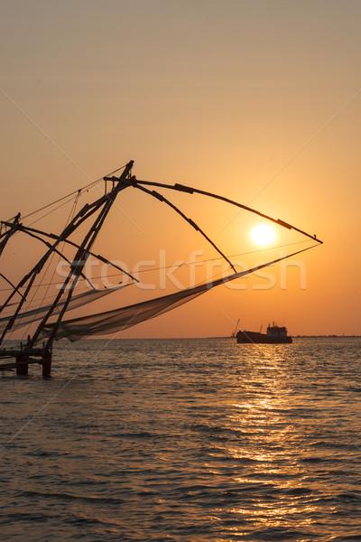 中国語 日没 インド 現代 船 砦 ストックフォト © dmitry_rukhlenko