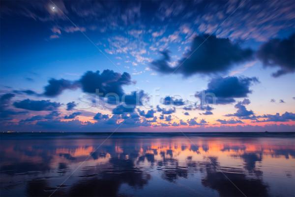 Tramonto spiaggia goa tropicali vacanze vacanze Foto d'archivio © dmitry_rukhlenko