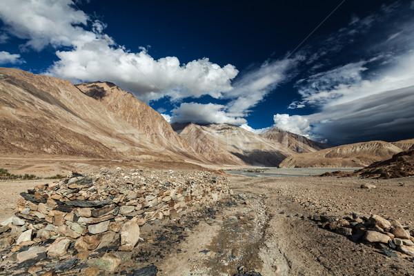 Vallei himalayas Indië landschap berg bergen Stockfoto © dmitry_rukhlenko