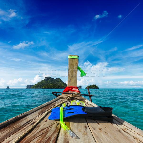 Snorkeling set on boat Stock photo © dmitry_rukhlenko