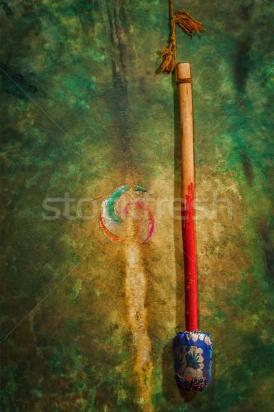 Rituale tamburo monastero India Foto d'archivio © dmitry_rukhlenko