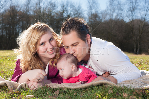 Daddy is kissing his girl Stock photo © DNF-Style
