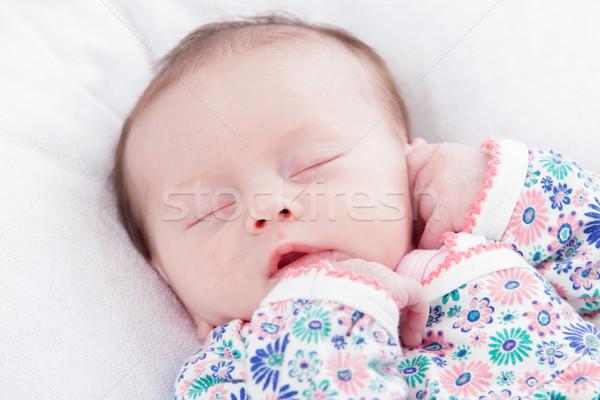Uyku küçük kız mutlu hafta Stok fotoğraf © DNF-Style