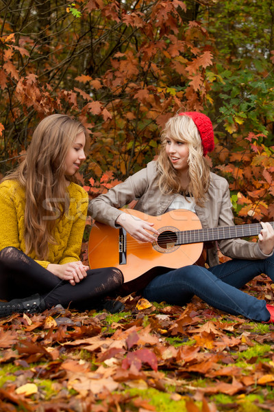 Bom tempo guitarra meninas Foto stock © DNF-Style