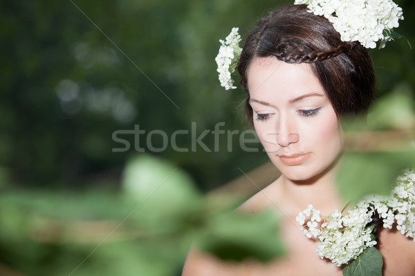 Girl with flowers Stock photo © DNF-Style