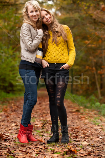 girlfrineds in the woods Stock photo © DNF-Style