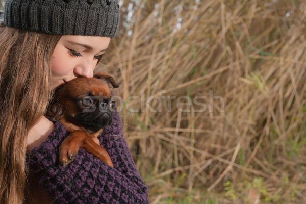Kiss the dog Stock photo © DNF-Style