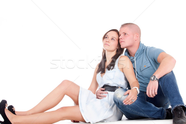 Daydreaming couple Stock photo © DNF-Style