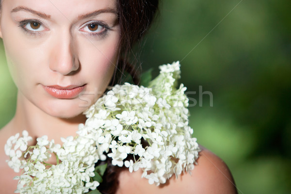 Beauty woman looking into the lens Stock photo © DNF-Style