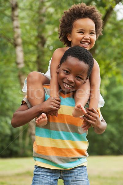 Doce pequeno africano criança irmão irmã Foto stock © DNF-Style