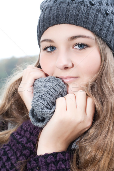 Cold winter girl Stock photo © DNF-Style