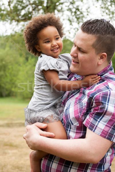 Baba küçük Afrika kız baba güzel Stok fotoğraf © DNF-Style